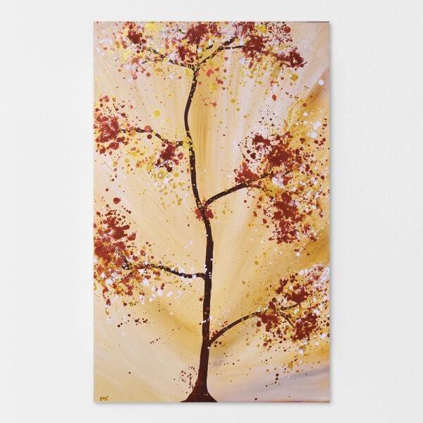 Baumbild Abstrakt in Beige Braun