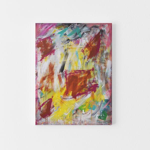Wandbild bunt Dynamisch Modern auf Leinwand Abstrakt