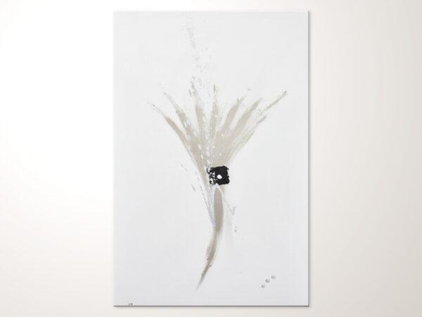 Puristisches Wandbild Acrylbild hochkant
