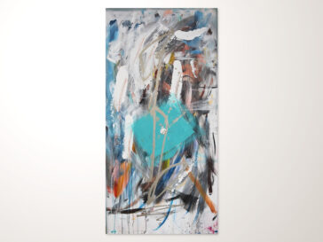 Abstraktes Acrylbild Hochkant Modern